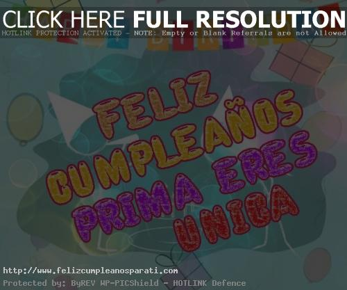 Saludos De Cumpleaños Para Mi Prima Eres Unica